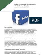 Construcción identitaria y subjetividad en la red social virtual de Facebook Por GrettelnbspGonzález