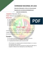Informe Trabajo Grupal MATEMATICAS 182