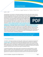 Unusual Grants an Online Legal Guide for Public Charities-cof-2010