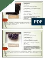 fichas tecnicas mineralogicas