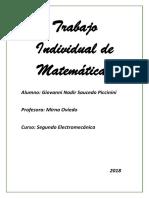 Trabajo Individual de Matemáticas