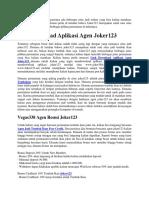 Link Download Aplikasi Agen Joker123