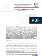 TRATAMENTO E ANÁLISE DA INFORMAÇÃO COM O AUXÍLIO DE SOFTWARES
