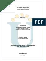 Informe de Laboratorio 3 Quimica Organica