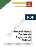 Procedimiento Control de Registros de Calidad Des