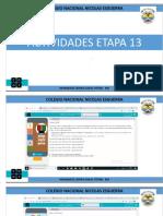 ACTIVIDADES ETAPA 13