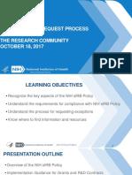 Single IRB & Exceptions Process Webinar October 18 2017(1)