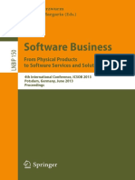 Software Business - From Products to Services and Solutions