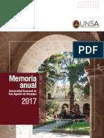 Memoria Anual 2017 UNSA