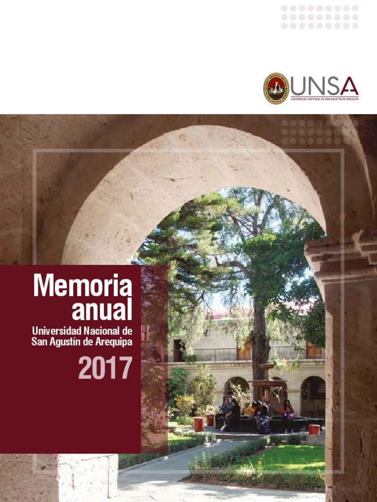 Memoria Anual 2017 UNSA 818a5e3a3f0ad