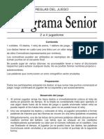 Reglas de Juego – Rapigrama Senior