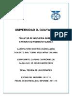 Informe 1 Laboratorio de Fisica 2 Grupo-miercoles