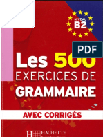 les 500 exercices de grammaire Niveau B2