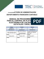 Manual de Procedimiento para el Control de plataforma