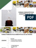 Formas Farmacêuticas de Uso Intenro