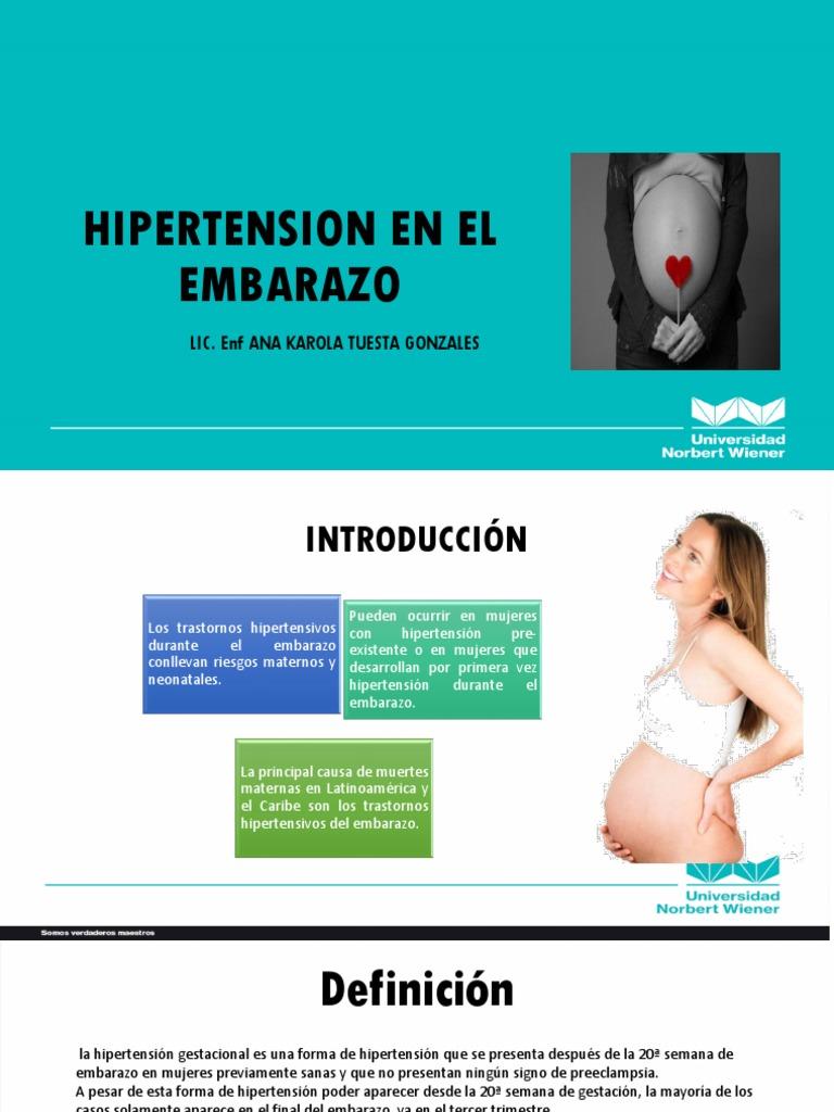 Hipertensión durante el embarazo
