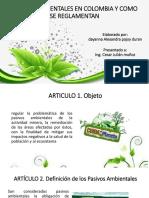 Pasivos Ambientales en Colombia y Como Se Reglamentan