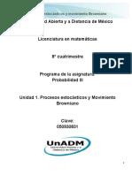 1. Unidad 1. Procesos Estocásticos y Movimiento Browniano
