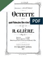 Gliere - String Octet Op5 in D Score