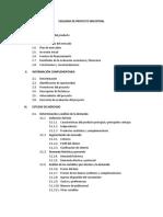 Indice Proyecto de Inversión Privada