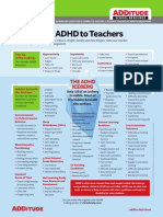 Explaining ADHD to Teachers