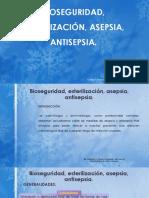 Bioseguridad, Esterilización, Asepsia, Antisepsia