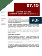 5 Nuevos Riesgos - Energia Solar Fotovoltaica