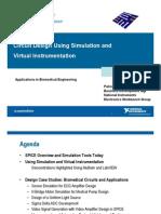 Circuit Design Simulation and Virtual Instrumentation