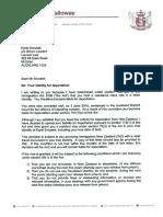 Letter to Karel Sroubek