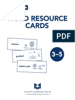 spanish word math resource cards