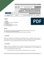 NPT 001 Procedimentos administrativos Parte 6 – Processos de Liberação Preliminar para Funcionamento de Estabelecimentos.pdf