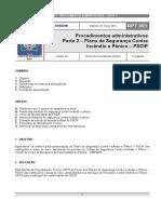 NPT 001 Parte 2 – Plano de Segurança Contra Incêndio e Pânico – PSCIP
