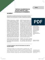 Desenvolvendo Práticas Colaborativas No Contexto Das Políticas Públicas, Com a Aplicação Da Metodologia de Atendimento Sistêmico