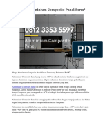 Harga Aluminium Composite Panel PerM2 Hp. 0812 3353 5597