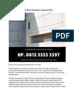Daftar Harga Aluminium Composite Panel, Hp. 0812 3353 5597