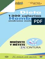 Dieta 300 calorías síndrome metabólico Hombres