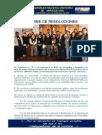 Informe de Resoluciones 3era Asamblea Nacional Ordinaria Anfucultura