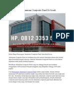 Jual Aluminum Composite Panel Di Gresik Hp. 0812 3353 5597