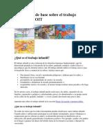 Información de Base Sobre El Trabajo Infantil y La OIT