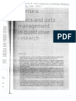 Howitt - 2013 - Ethics and Data Management in Qualitative Research