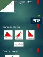 Áreas triangulares