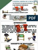 La Educacion en La p. de l.p