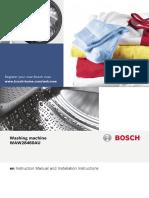 Bosch 8kg Front Loading Washing Machine WAW28460AU User Manual