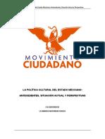 La Política Cultural, Partido Movimiento Ciudadano, México
