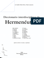 Hermeneutica Diccionario Decosntruccion Dialectica Discurso