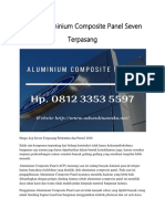 Harga Aluminium Composite Panel Seven Terpasang Hp. 0812 3353 5597