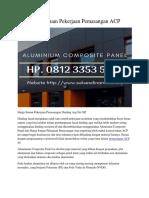 Harga Satuan Pekerjaan Pemasangan ACP Hp. 0812 3353 5597