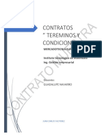 Contratos condiciones y terminos