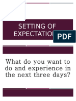 Setting of Expectations