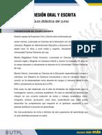 Gu+¡a did+íctica - Expresi+¦n Oral y Escrita
